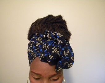 Royal blue/black/yellow Scarf