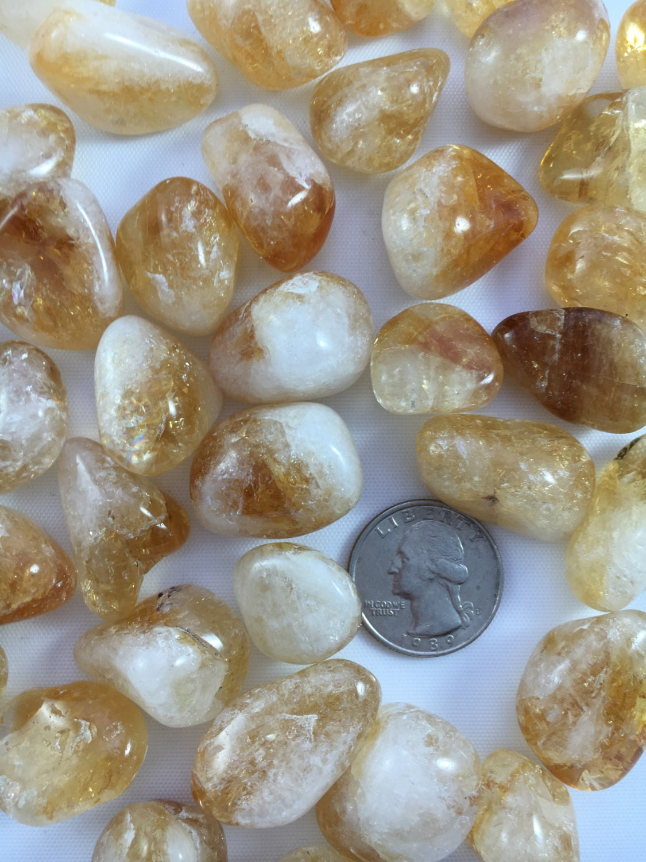 Beautiful Tumbled CITRINE Healing Gemstone// Tumbled Stones ...