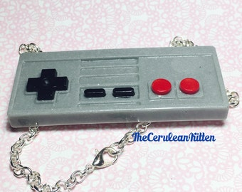 Video Game Controller Necklace, Resin Jewelry