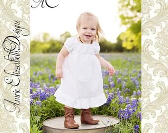 White Peasant Slip Dress - Girls Sizes 2T - 10