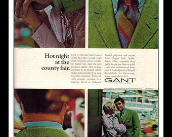 "Vintage Print Ad May 1969 : Gant Shirtmakers Fashion Clothing Wall Art Decor Single Page 8.5"" x 11"" Advertisement"