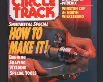 Vintage Magazine : Circle Track July 1989 Automobile Car Hot Rod VG+ Race Action Indy Cars