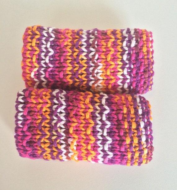 Baby Washcloths Knitting Patterns: Knit Dishcloth / Knit Washcloth / Boho / By