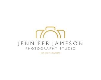 Logo Design - Premade Logo Design - Photography Logo - Studio Logo - Gold Logo - Clean Logo - Modern Logo, Customized for any business - 082