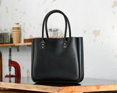 Leather Tote Bag, Large, Australian, CarryAll, Shoulder Bag, Black, Laptop, MacBook, Personalized, Handbag, Folio, Ipad, Australian