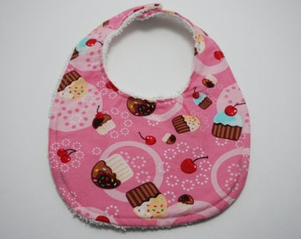 Pink Cupcakes Traditional Bib