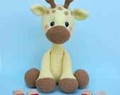 giraffe crochet pattern, giraffe doll, giraffe toy, crochet giraffe