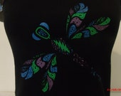"""Grateful Dead inspired """"Ripple"""" Dragonfly Ladie's spaghetti strap tank top."""