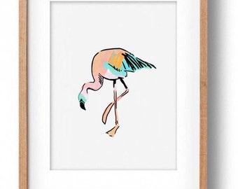 Okay Luna 'Baby Flamingo' Print A4