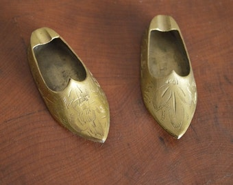 Vintage Brass Shoe Ash Trays