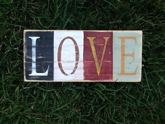 Love Pallet Sign Rustic Home Decor Love By