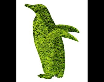 Penguin Topiary Print - Digital Download