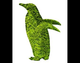 Penguin Topiary Print