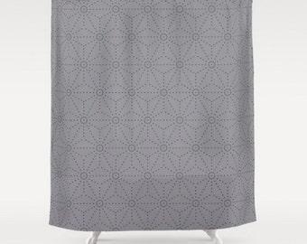 Grey shower curtain | Etsy