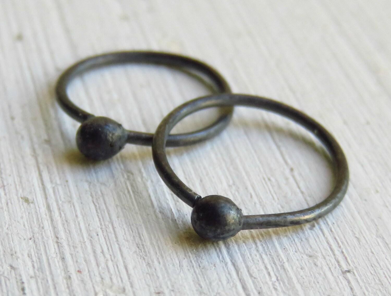 oxidized silver earrings s hoop earring black