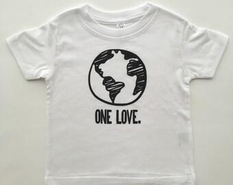 One Love t-shirt, baby tee