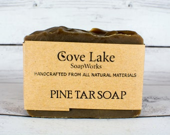 Pine Tar Soap, All Natural Soap, Handmade Cold Processed Soap