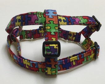 Adjustable Autism Speaks Step-In Dog Harness