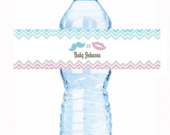 """Beau or Bow ? Baby Shower Water Bottle Labels - Select the quantity you need below in the """"Pricing & Quantity"""" option tab"""