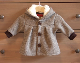 "Warm Coat ""Carla"", new wool"