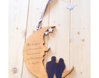 Under the Same Moon Wall Art | Anniversary Gift | Wedding Gift