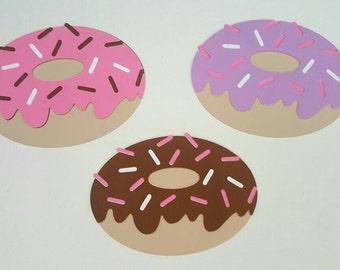 Doughnut with sprinkles Die Cut Set of 3