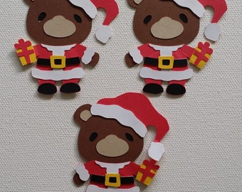 Christmas Bear Die Cut set of 3
