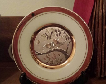 Beautiful Vintage Japanese 24kt Gold Edged Plate