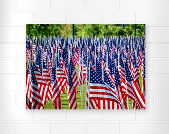 Patriotic Decor - American Flag - Military Decor - Red White and Blue - Home Decor - Patriotic Gifts - Americana Decor - 4th of July - Print