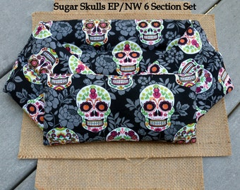 Microwave Heating Pad, Neck Wrap and Eye Pillow, Rice Heating Pad, Meditation, Hot Cold Therapy Pack, Sugar Skulls, InHer Inner Peace