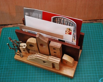 Rustic wooden crafted letter/toast rack Lovely hardwoods