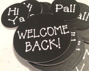 Mickey Mouse Welcome Back Treat Tags Meet the Teacher set of 24