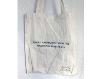 Tote bag - sac cabas tissu - FIGHT