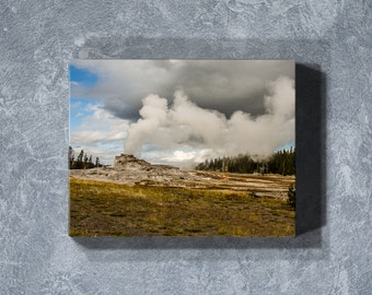 Yellowstone, Yellowstone Canvas, Gallery Wrap Canvas, Canvas Art, Canvas Print, Large Canvas Art, Office Wall Art, Landscape Photography