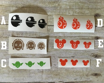 Magic Band decals/Stickers in 3 sizes/Decorations for Magic Band/Custom options available