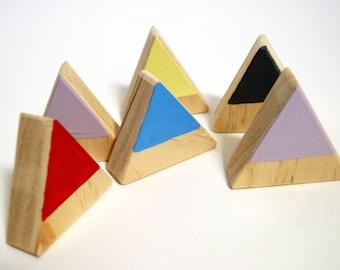 Children's wooden Montessori blocks - Triangles