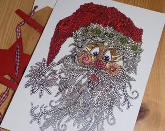 Santa/ Father Christmas - Greetins card, Christmas Cards