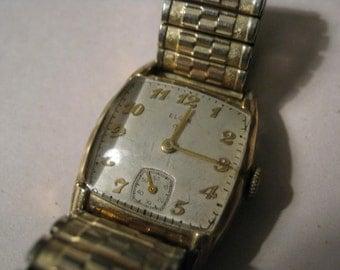 Vintage Elgin 554 Men Wrist Watch 17 Jewels USA