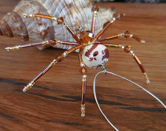 Christmas spider with Christmas Spider Legend, beaded spider, Christmas decor, Christmas Ornament, Beaded Decor, Beaded Animal, Home Decor