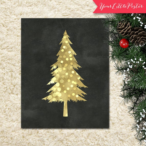 Printable Christmas Tree print chalkboard and by ...