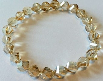 Swarovski golden shadow crystal bracelet