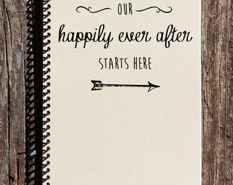 Happily Ever After Journal -  Love and Romance - Happily Ever After Notebook - Newlyweds - Anniversary Gift - Bride Wedding Day Gift