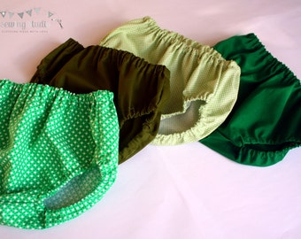 Baby diaper covers, green baby diaper covers Baby diaper cover, green baby bloomers 0-3months 3-6months 6-12months 12-24months