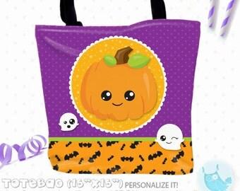 SALE halloween candy Personalized Tote Bags, custom Tote bag, kids tote, school tote, kindergarten tote, beach tote bag, Tote Bags TB145