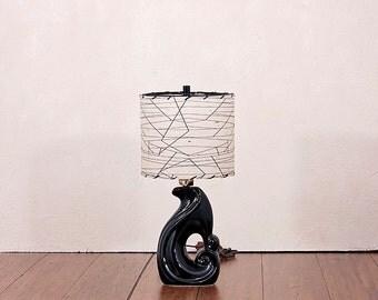Restored Mid Century Modern Lamp and Shade