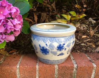 Vintage Oriental Blue and White Planter REDUCED