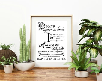 "Personalized ""Once Upon A Time"" Wall Art"