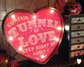 Carnival led lighting 'Fun fair tunnel of love step right up admit 2' circus lighting Temerity Jones