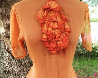 Beautiful 1930s chiffon blouse!