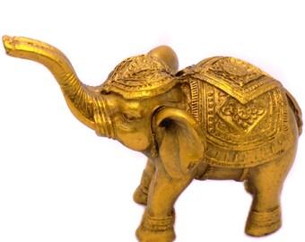 Impressive Great Elephant of Polyresin Decorative Figurine Souvenir Statuette Home Decor Collectible Perfect Gift